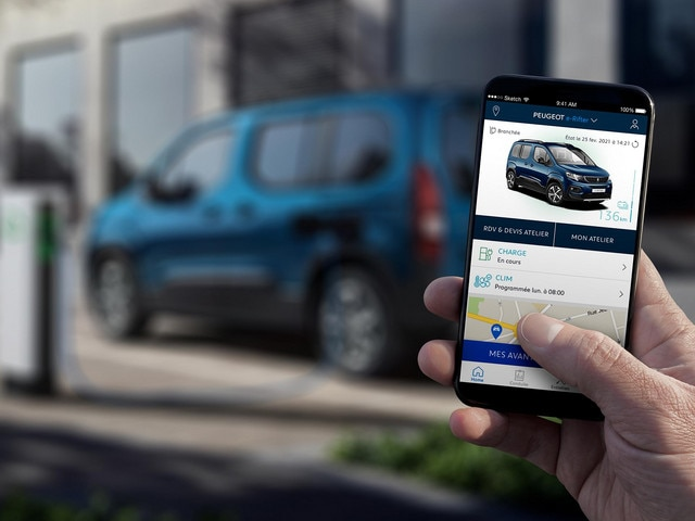 Nouveau PEUGEOT e-RIFTER – Application MyPeugeot
