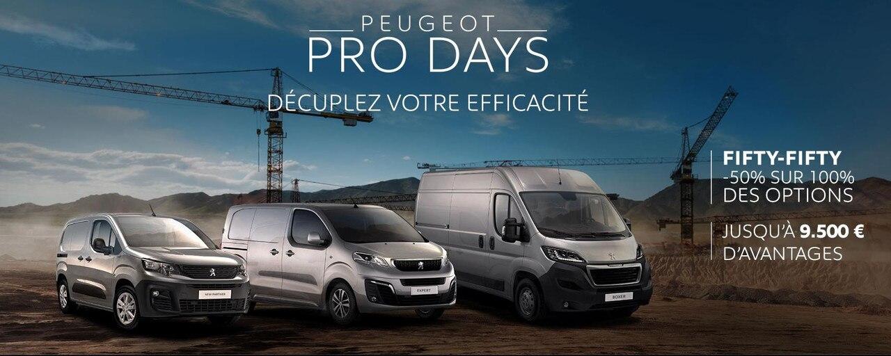 Peugeot Pro days VU Slider Homepage