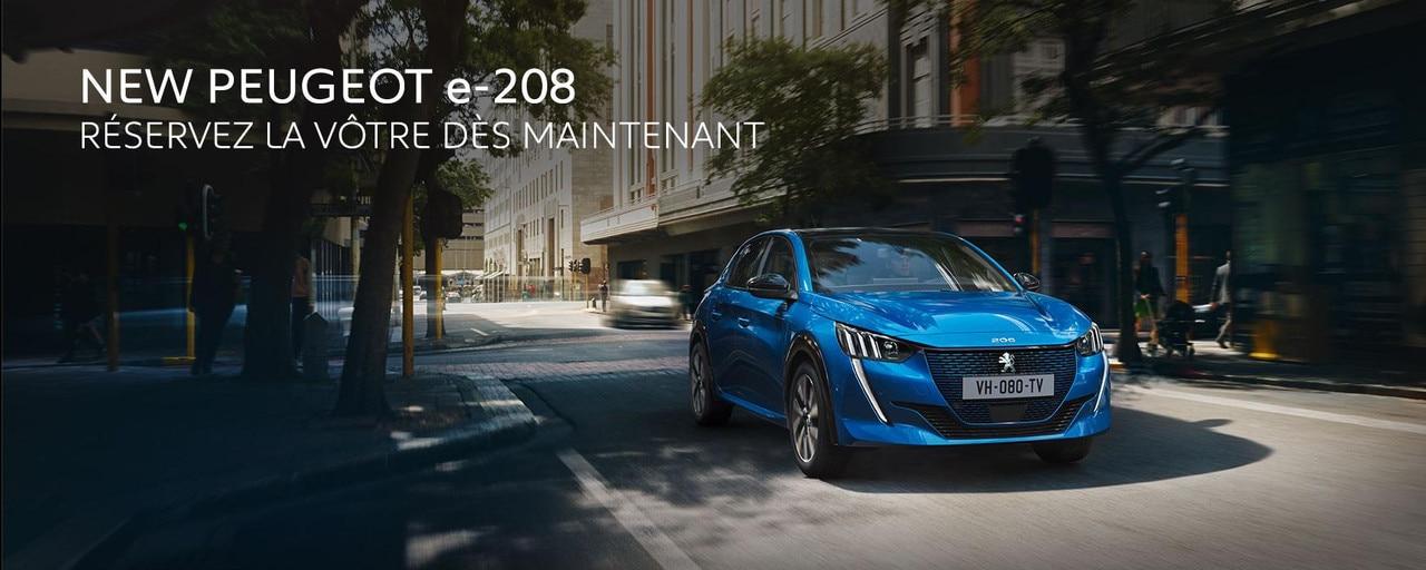 New Peugeot e-208 Slider Homepage