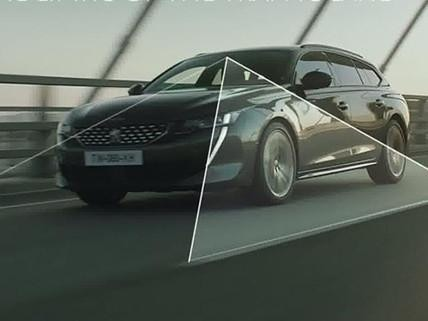 Technologie de conduite semi-autonome avec Régulateur de vitesse adaptatif avec fonction Stop & Go et système de maintien dans la voie - nouveau break PEUGEOT 508 SW pour les professionnels